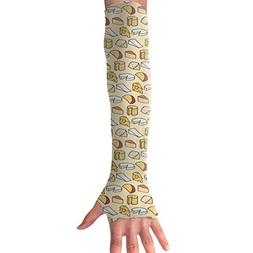 YanHill Cooling Arm Long Sleeve Glove Cheese Fiend UV Sun Pr