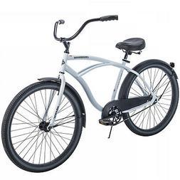 CRUISER BICYCLE Commuter 26 Inch Men City Beach Bike White C