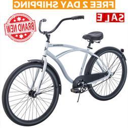CRUISER BICYCLE Commuter 26 Inch Mens Huffy City Beach White