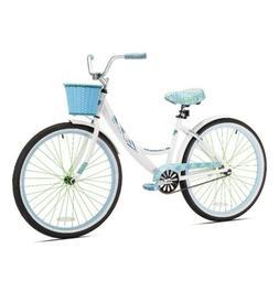 """Kent Cruiser Bike Women 26"""" White Comfort Commuter City Beac"""