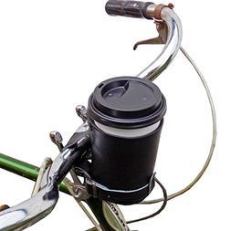 Cruzy Leather Bike Cup Holder Handmade by Hide & Drink :: Bl