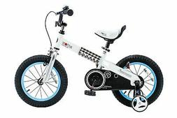 """RoyalBaby CubeTube Buttons 12""""  Bicycle for Kids, Blue"""