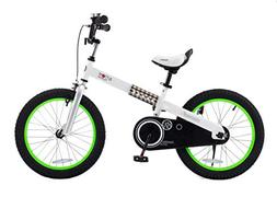 """RoyalBaby CubeTube Buttons 14""""  Bicycle for Kids, Blue"""