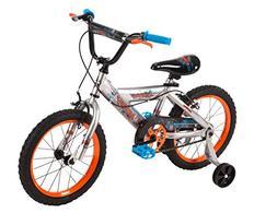 16-inch Huffy Cyborg Boys' Bike, Orange/Blue, Ideal for Ages