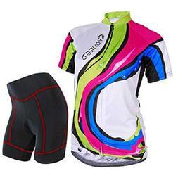 Sponeed Women's Cycle Jersey Bike Clothing Gel Padded Bicycl