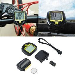 Cycling Bike Bicycle Wireless LCD Cycle Computer Odometer Sp