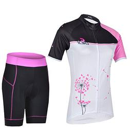 Rtery WoMens Cycling Bike Short Breathable Jersey & Pants Se