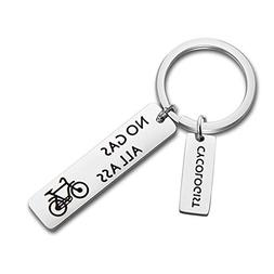 MAOFAED Cycling Gift Bicycle Keychain No Gas All Ass Funny C