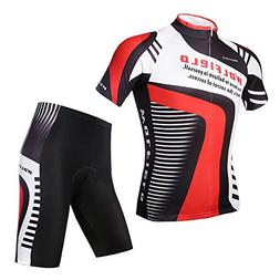 WOLFBIKE Men's Cycling Jersey Shorts Set