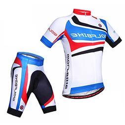 WOLFBIKE Men Cycling Jersey + Short Sportswear Suit, Forest,