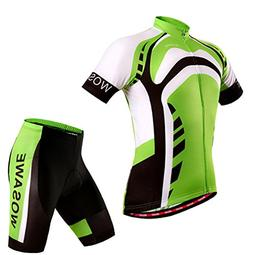 WOLFBIKE Cycling Shirt Bicycle Bike Short Sleeve Jersey Gree