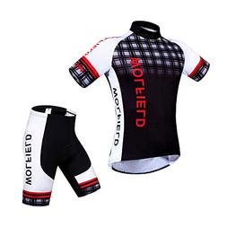 WOLFBIKE Men's Cycling Short Sleeve Jersey, OR Jersey + 3D P