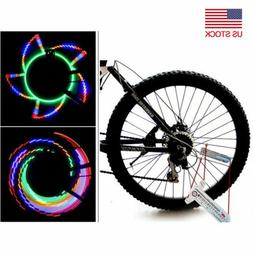 Cycling Spoke Wire Tire Wheel 16- LED Bright Light Lamp Bicy