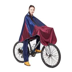 Women Men Dark Red Cycling Bicycle Bike Raincoat Rain Cape I