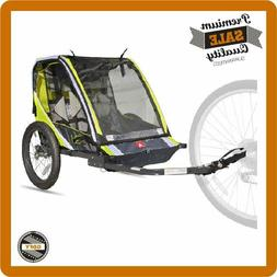 Deluxe 2-Child Bike Trailer Bicycle Tow Cart Carrier Biking