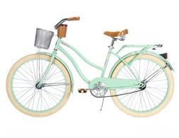 Huffy Women's Deluxe Cruiser Bike, Mint Green, 26-Inch/Mediu