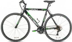 GMC Denali Flat Bar Road Bike, 19-Inch/48cm/Small, Black/Gre