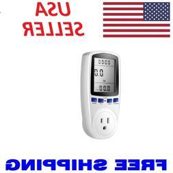 Digital Power Saving Energy Monitor Watt Amp Volt KWh Meter
