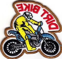DIRT BIKE Iron On Patch Sports Bikers Bicycles Off Road