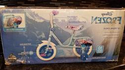 "Disney Frozen 10"" Pedal Bike With Training Wheels K7138 New"