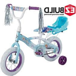 4a5dce7692f Editorial Pick Disney Frozen 12 Girls' EZ Build Bike with Sleigh Doll Carri
