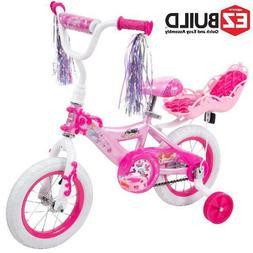 "Disney Princess 12"" Girls' EZ Build Bike with Doll Carrier C"