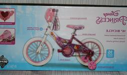 "Disney Princess 16"" Girls' EZ Build Pink Bike, by Huffy w/ H"