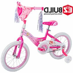 Huffy Disney Princess 16 Inch Girls EZ Build Pink Bike Bicyc