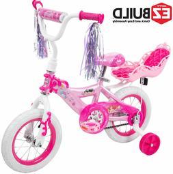 "12"" Huffy Disney Princess Girls' Bike with Doll Carrier"