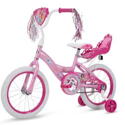 Disney Princess Girls 16-inch Bike by Huffy Wide Training Wh