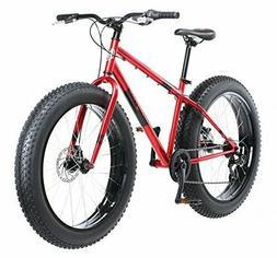 """Mongoose Men's Dolomite 26"""" Wheel Fat Tire Bicycle, Red, 18"""""""