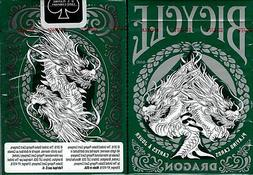 Dragon Bicycle Green Playing Cards Poker Size Deck USPCC Cus