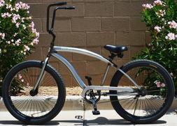 Duke 3.0 Colby Cruiser Bike Beach Cruiser Bicycle Raw Steel