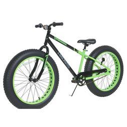 "Krusher Mens Dynacraft Fat Tire Bike, Black/Green, 24"""