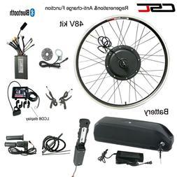 E bike Conversion Motor Wheel Kit 48V 1500W LCD Electric Bic