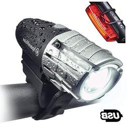 Eagle Eye USB Rechargeable Bike Light Set by Apace - Powerfu