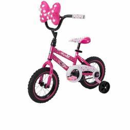"Easy Build 12"" Girls' Disney Minnie Bike with Training Wheel"