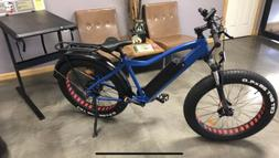 "Electric E-Bike Bicycle 26"" Fat Tire 750W 48V 17AH Blue ON"