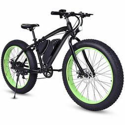 Electric Fat Tire Bike Mountain Snow Beach  Bicycle E-Bike L