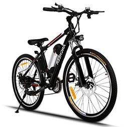 ANCHEER Power Plus Electric Mountain Bike with Removable Lit