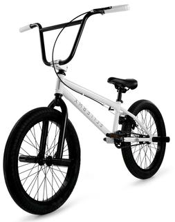 "Elite 20"" BMX Stealth Bicycle Freestyle Bike 1 Piece Crank W"