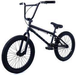 "Elite 20"" BMX Stealth Bicycle Freestyle Bike Matt Black NEW"