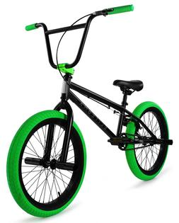 "Elite 20"" BMX Stealth Bicycle Freestyle Bike 1 Piece Crank B"