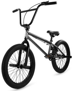 "Elite 20"" BMX Stealth Bicycle Freestyle Bike Gunmetal Grey N"
