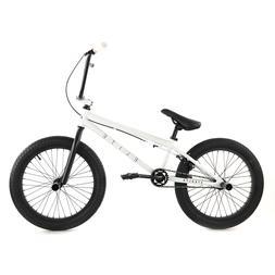 "Elite BMX Bike  - Stealth - White 20"" Bicycle"