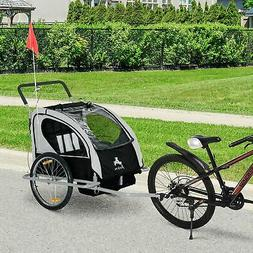 Aosom Elite Double Baby Bike Trailer Stroller - Child Bicycl