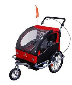 Aosom Elite II 3-in-1 Double Child Bike Trailer/Stroller/Jog