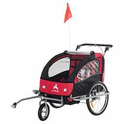 Aosom Elite II Double Baby Bike Trailer Stroller - Child Bic
