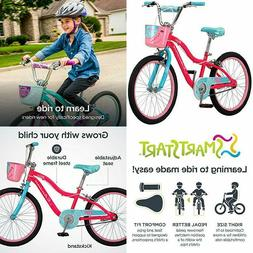 """Schwinn Elm Girl's Bike with SmartStart, 20"""" Wheels, Pink"""