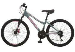 "Mongoose Excursion girls mountain bike 24"" front disc riders"